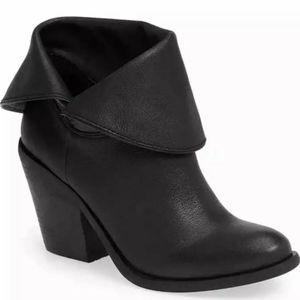Lucky Brand Ethann Fold Over Leather Booties